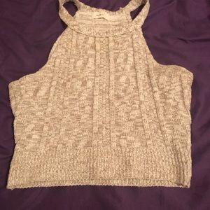 Crop top knitted shirt